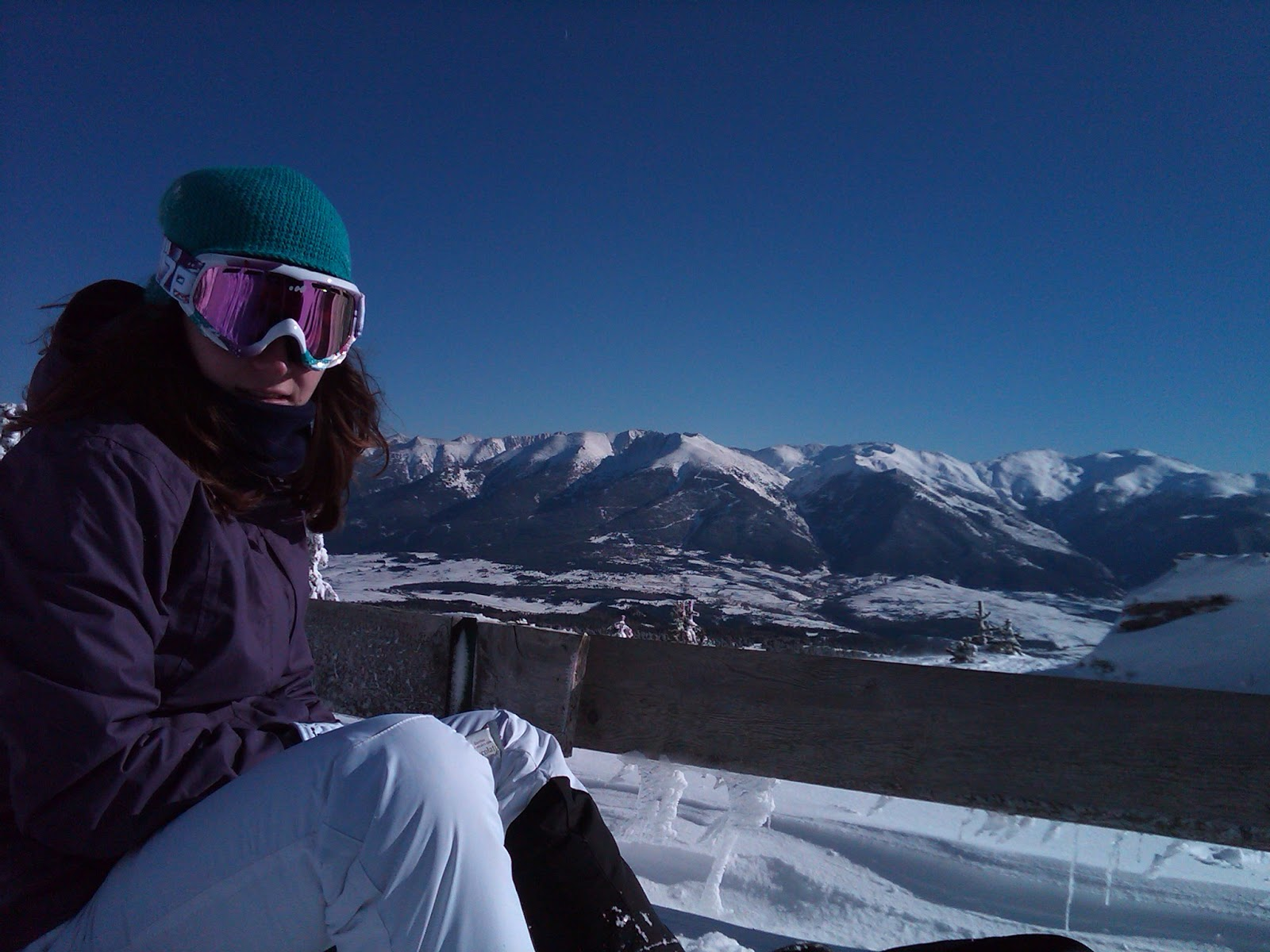 snowboarding in the pyreneees