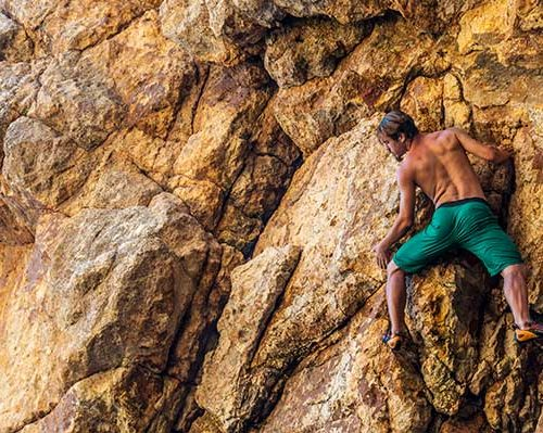 deep water soloing in cala pola on the costa brava