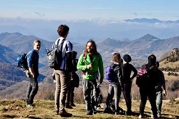 hiking montseny sergi the guide
